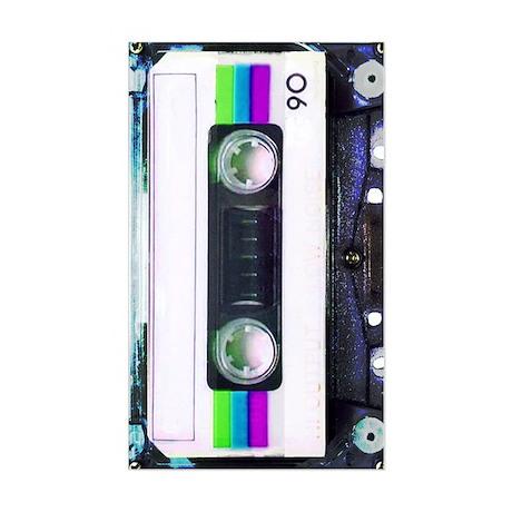 Metallic Mixed Tape - Blue Sticker (Rectangle)