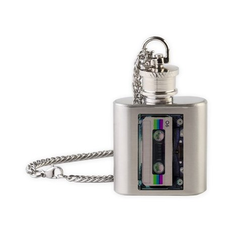Metallic Mixed Tape - Blue Flask Necklace