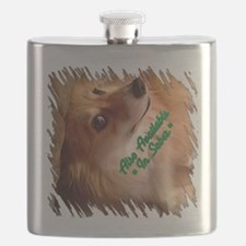 Irish Corgi Dog - Sober? Flask