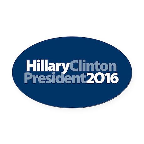 Hillary Clinton Oval Car Magnet