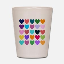 Hearts of All Kinds Shot Glass