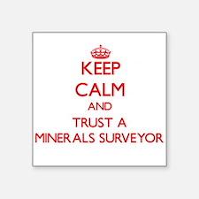 Keep Calm and Trust a Minerals Surveyor Sticker