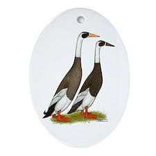 Runner Ducks Emery Penciled Ornament (Oval) Orname