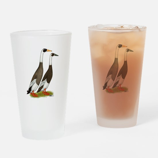 Runner Ducks Emery Penciled Drinking Glass