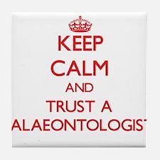 Keep Calm and Trust a Palaeontologist Tile Coaster