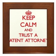 Keep Calm and Trust a Patent Attorney Framed Tile