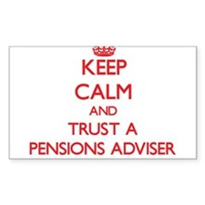 Keep Calm and Trust a Pensions Adviser Decal