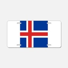 Flag of Iceland Aluminum License Plate