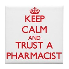 Keep Calm and Trust a Pharmacist Tile Coaster