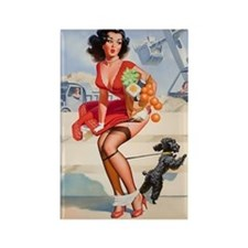 Pin up Grocery Girl Rectangle Magnet