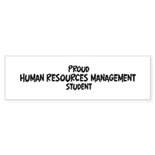 human resources management st Bumper Bumper Sticker