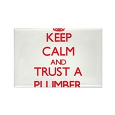 Keep Calm and Trust a Plumber Magnets