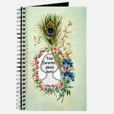 Personalizable Vintage Flower Frame Journal