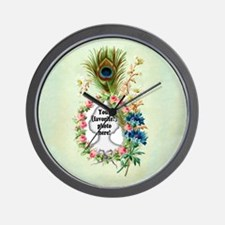 Personalizable Vintage Flower Frame Wall Clock
