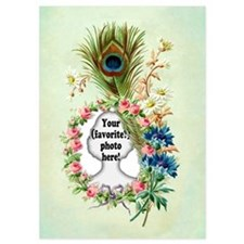Personalizable Vintage Flower Frame Invitations