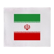 Flag of Iran Throw Blanket