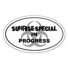 Sunrise Special Oval Decal