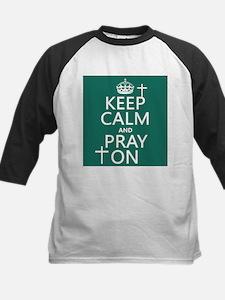 Keep Calm and Pray On Baseball Jersey