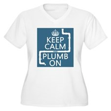 Keep Calm and Plumb On (plumbing) Plus Size T-Shir