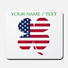 Custom American Flag Shamrock Mousepad