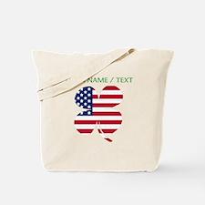 Custom American Flag Shamrock Tote Bag