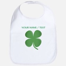 Custom Green Four Leaf Clover Bib