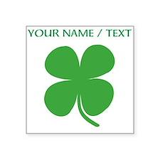 Custom Green Four Leaf Clover Sticker