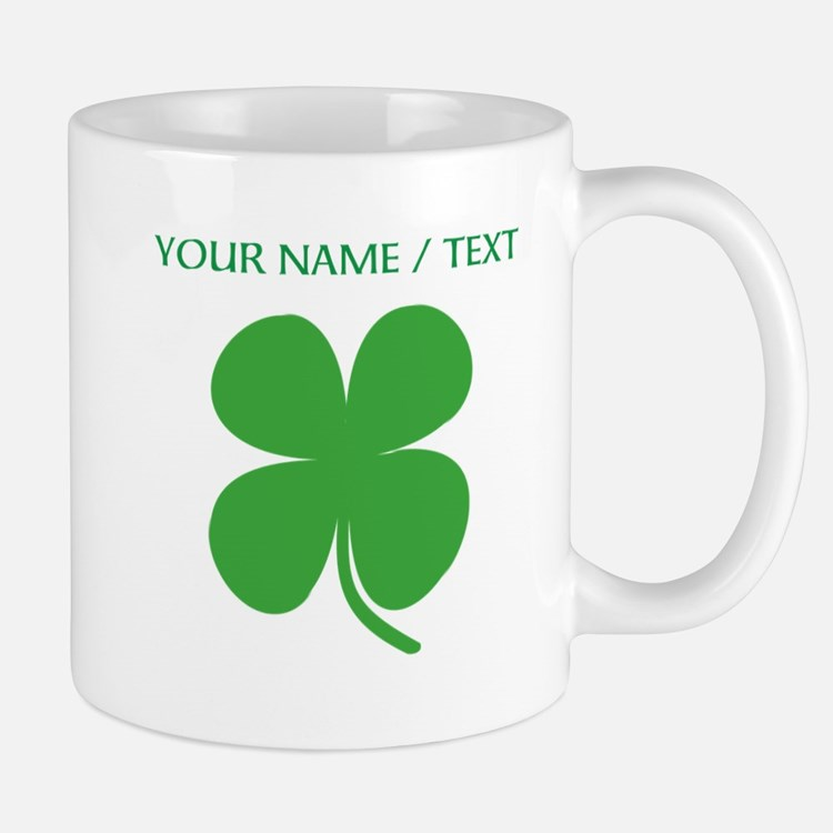 Custom Green Four Leaf Clover Mugs
