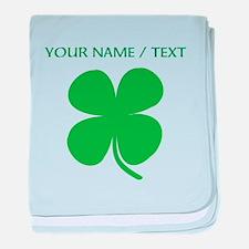 Custom Green Four Leaf Clover baby blanket