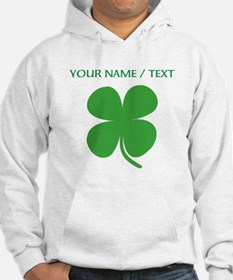 Custom Green Four Leaf Clover Hoodie