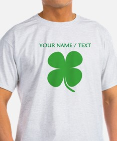 Custom Green Four Leaf Clover T-Shirt