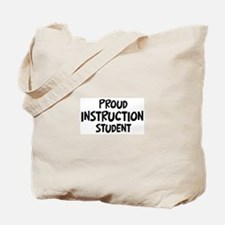 instruction student Tote Bag