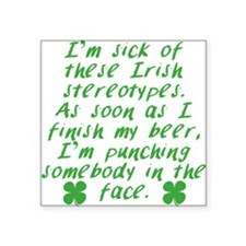 Irish Stereotypes Sticker