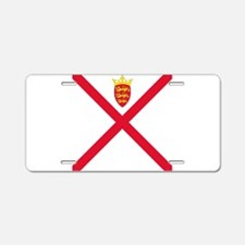 Flag of Jersey Aluminum License Plate