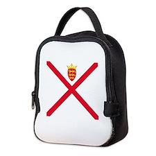 Flag of Jersey Neoprene Lunch Bag