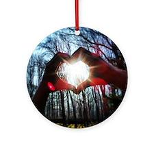 LoveKarmaLove   Round Ornament