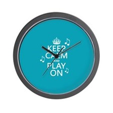 Keep Calm and Play On (music) Wall Clock