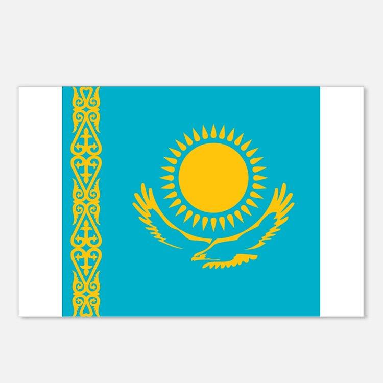 Flag of Kazakhstan Postcards (Package of 8)