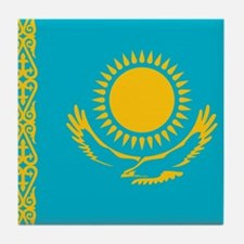 Flag of Kazakhstan Tile Coaster