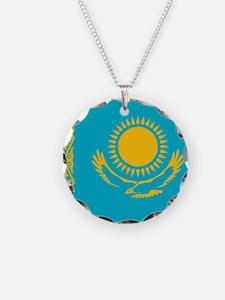 Flag of Kazakhstan Necklace