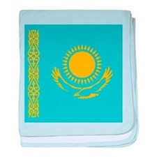 Flag of Kazakhstan baby blanket