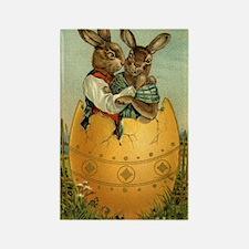 Vintage Easter Bunnies Rectangle Magnet