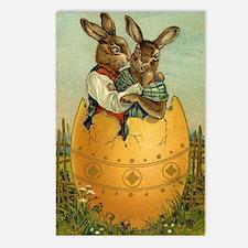 Vintage Easter Bunnies Postcards (Package of 8)