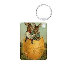 Vintage Easter Bunnies Keychains