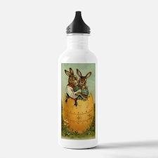 Vintage Easter Bunnies Water Bottle