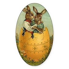 Vintage Easter Bunnies Decal