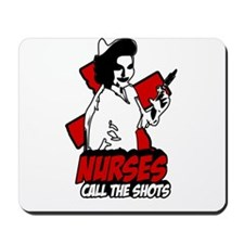 Retro Nurses Call the shots T-Shirt Mousepad