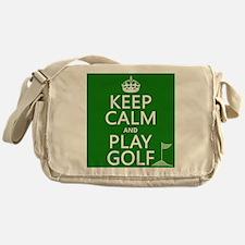 Keep Calm and Play Golf Messenger Bag