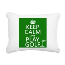 Keep Calm and Play Golf Rectangular Canvas Pillow