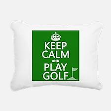 Keep Calm and Play Golf Rectangular Canvas Pillow